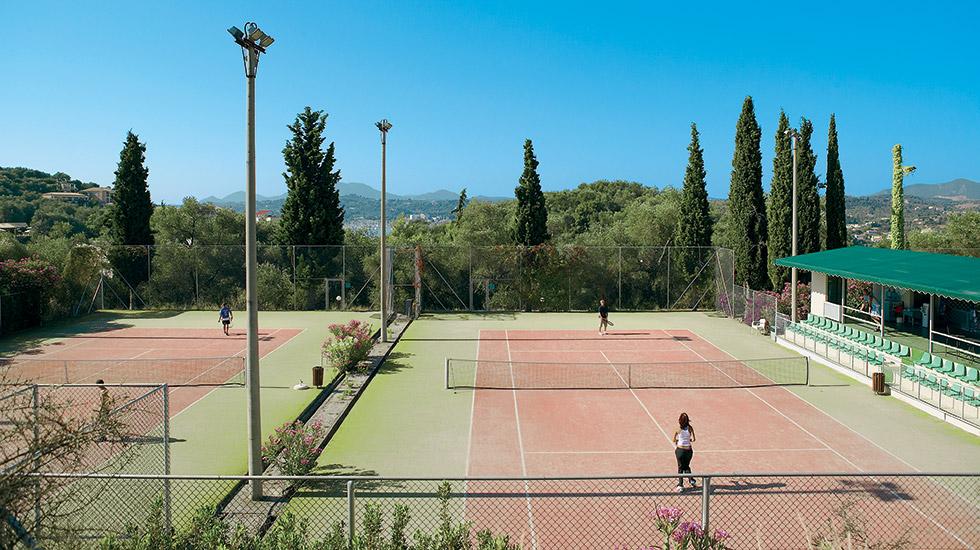daphnila bay thalasso tennis court corfu